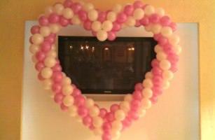Сердечки и кольца из шариков